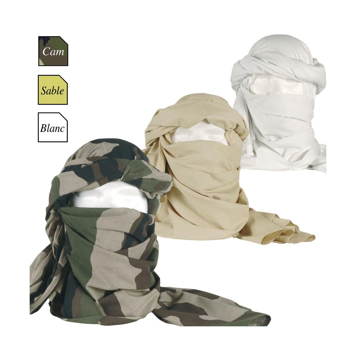 Chèche en coton (blanc, beige, camo CE) f932dd7cef1